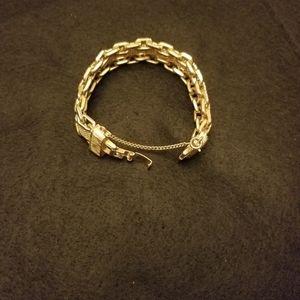 Vintage gold tin mesh bracelet